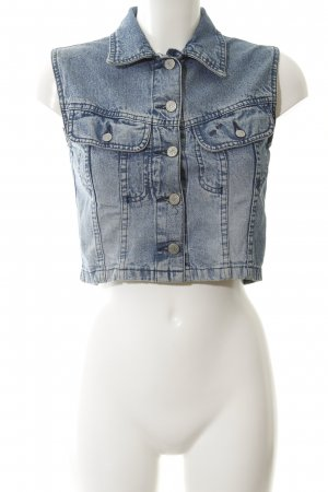 Big Star Denim Vest cornflower blue jeans look