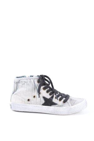 Big Star Sneaker stringata grigio chiaro-nero stile casual
