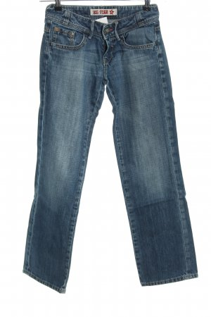 Big Star Straight-Leg Jeans blau Casual-Look