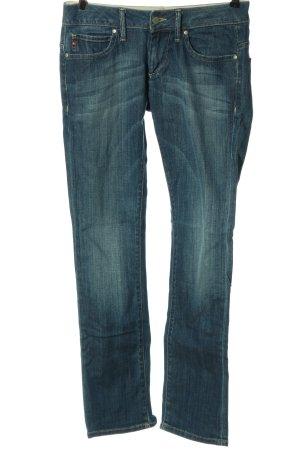 Big Star Straight-Leg Jeans blau Casual-Look