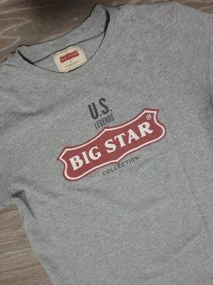 Big Star Top basic srebrny-czerwony Bawełna