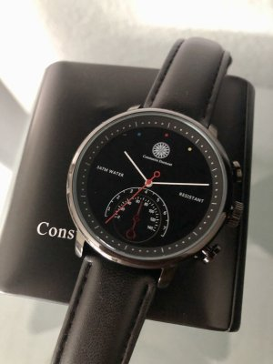 Constantin Durmont Watch With Leather Strap black leather
