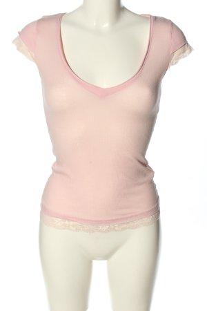 BIGSTAR Prążkowana koszulka kremowy W stylu casual