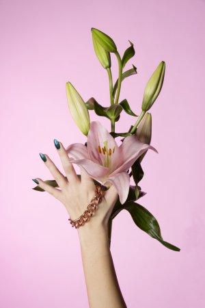 Bijou Brigitte Złote bransoletki różany-złoto