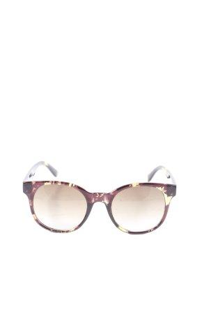 Bijou Brigitte Bril roze abstract patroon casual uitstraling