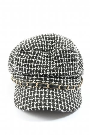 Bijou Brigitte Platte pet zwart-wit casual uitstraling