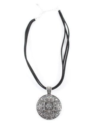 Bijou Brigitte Ketting zilver-zwart Patroon-mengeling zakelijke stijl
