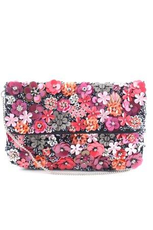 Bijou Brigitte Minitasche schwarz-pink Blumenmuster Elegant