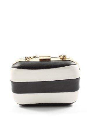 Bijou Brigitte Mini Bag black-white striped pattern casual look