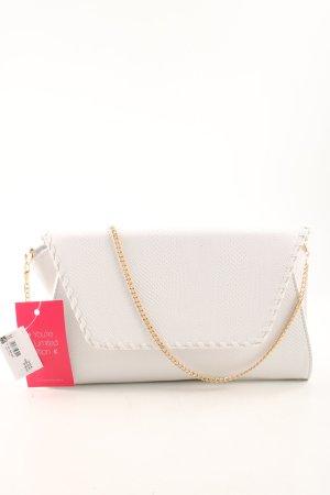 Bijou Brigitte Bolso tipo pochette blanco look casual
