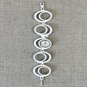 Bijou Brigitte Horloge met metalen riempje wit-zilver