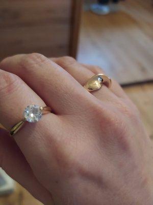 Bijou Brigitte Ring Solitaire Solitair Goldfarben