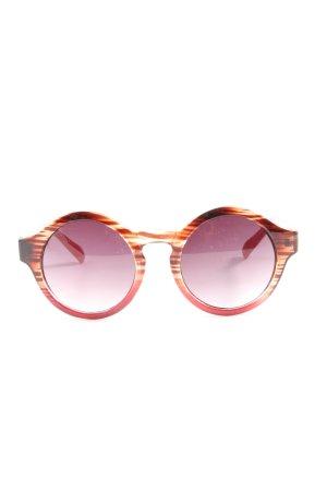 Bijou Brigitte Gafas de sol redondas marrón-blanco look casual