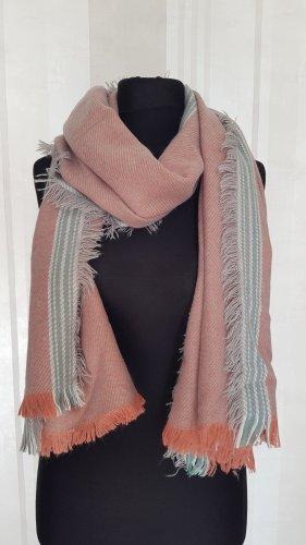 Bijou Brigitte Bufanda de flecos gris claro-rosa empolvado