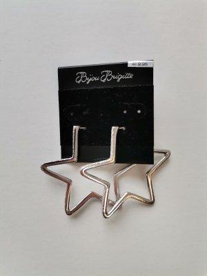 Bijou Brigitte Zdobione kolczyki srebrny Tkanina z mieszanych włókien