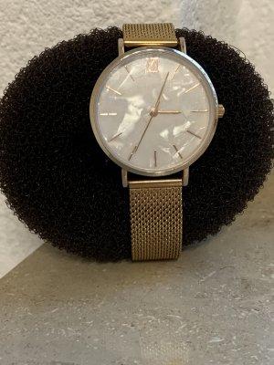 Bijou Brigitte Reloj con pulsera metálica color rosa dorado