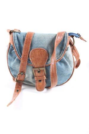 Bijou Brigitte Gekruiste tas blauw-bruin casual uitstraling