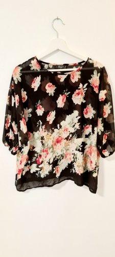 Bik Bok Transparante blouse zwart-roze