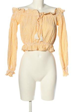 Bik Bok Carmen Blouse light orange-white striped pattern casual look