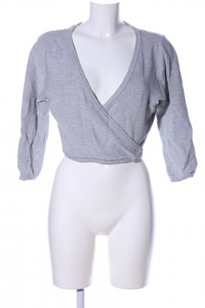 Bik Bok Cropped Shirt light grey flecked casual look