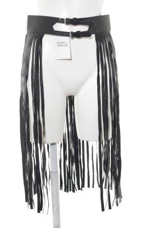 Bik Bok Cinturón de cuero de imitación negro Poliuretano
