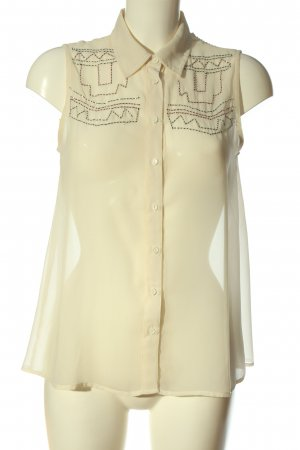 Bik Bok Hemd-Bluse nude grafisches Muster Casual-Look