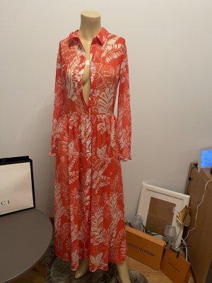 Bik Bok Longsleeve Dress neon orange