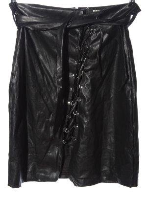 Bik Bok Spódnica z imitacji skóry czarny Z połyskiem