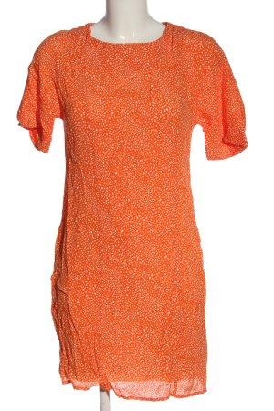Bik Bok Sukienka z krótkim rękawem jasny pomarańczowy-biały W stylu casual