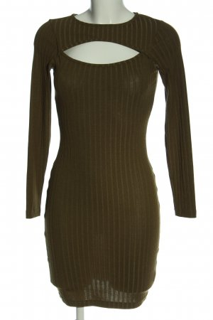 Bik Bok Sukienka z długim rękawem brąz Melanżowy W stylu casual
