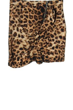 Bik Bok Spódnica mini Zwierzęcy wzór Elegancki