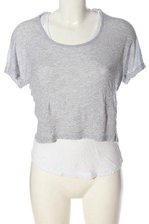 Bik Bok Chemise côtelée gris clair-blanc moucheté style décontracté