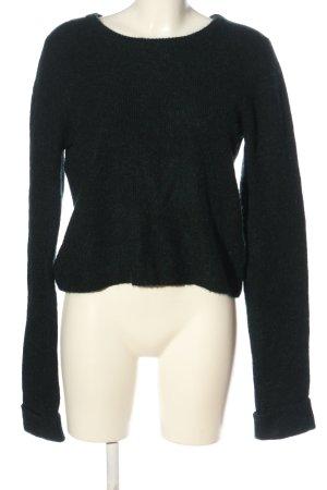 Bik Bok Kraagloze sweater zwart casual uitstraling