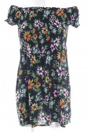 Bik Bok schulterfreies Kleid Blumenmuster