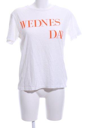 Bik Bok T-Shirt weiß Schriftzug gedruckt Casual-Look