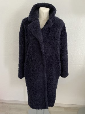 Bik Bok Płaszcz ze sztucznym futrem czarny
