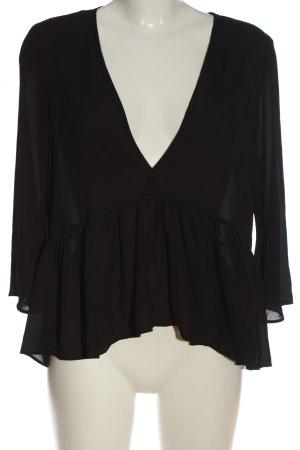 Bik Bok Transparante blouse zwart casual uitstraling