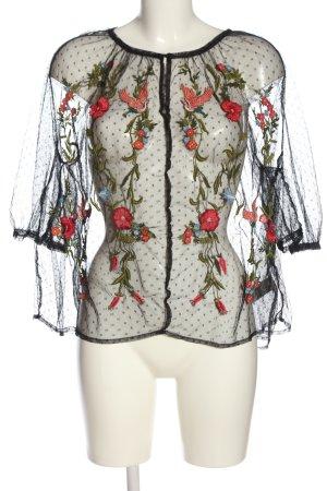 Bik Bok Transparante blouse bloemenprint casual uitstraling