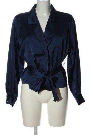 Bik Bok Kopertowa bluzka niebieski W stylu biznesowym