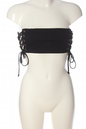 Bikbok Bandeau top zwart extravagante stijl
