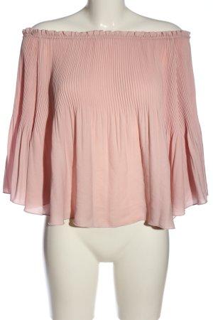 Bikbok Carmen blouse roze casual uitstraling