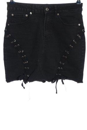 Bikbok Spijkerrok zwart casual uitstraling