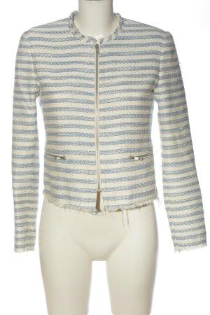 Bikbok Kort jack room-blauw gestreept patroon zakelijke stijl
