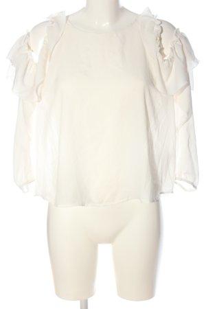 Bikbok Blouse met lange mouwen wit zakelijke stijl