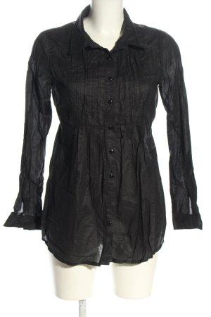 Bikbok Blouse met lange mouwen zwart zakelijke stijl
