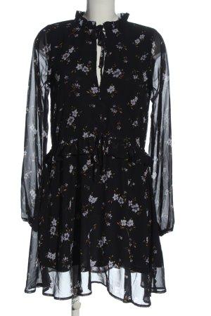 Bikbok Sukienka z długim rękawem Wzór w kwiaty Elegancki