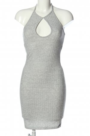 Bikbok Mini-jurk lichtgrijs gestreept patroon casual uitstraling