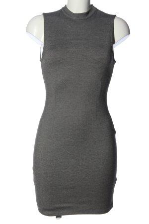 Bikbok Mini-jurk lichtgrijs gestippeld casual uitstraling