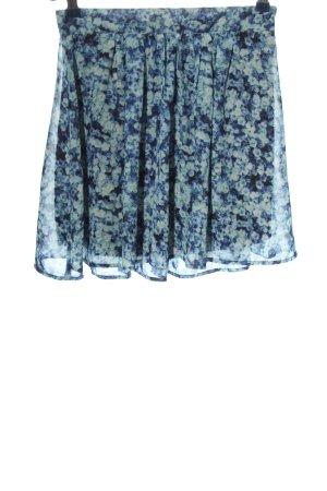 Bikbok Mini rok blauw volledige print casual uitstraling