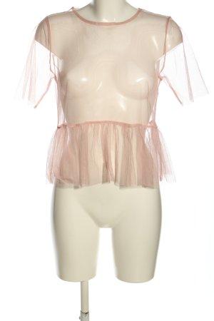 Bikbok Maglia a rete rosa stile casual